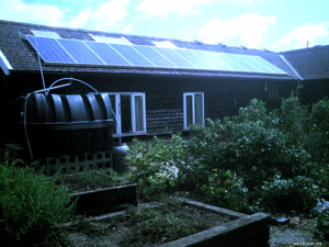Rainwater harvesting and photovoltaics